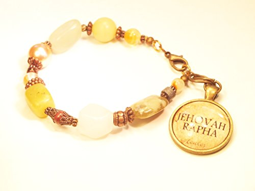 Fashion Bracelet Christian Jehovah Rapha With Gemstones