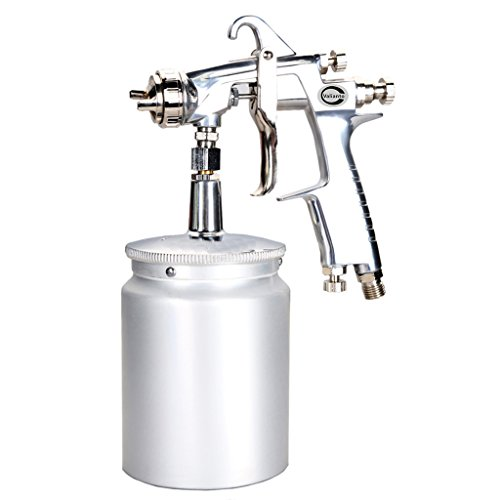 Valianto W101-S Siphon Feed Spray Gun with 600cc Aluminum Cup Silver Nozzle Size 1.5mm