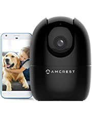 Amcrest 1080P Smart Home WiFi Camera, Baby Monitor, AI Human Detection, Motion-Tracking, Indoor Pet, Dog, Nanny Cam w/ 2-Way Audio, Phone App, Pan/Tilt Wireless IP Camera, Night Vision, ASH21