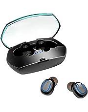 XuanPad Ecouteur Bluetooth, 5.0 Ecouteur sans Fil couteurs Bluetooth 5.0, Auriculaires avec Micro Stereo, 15 Heures Playtime Etanche IPX6 Oreillette Bluetooth Sport pour Android iOS CVC8.0