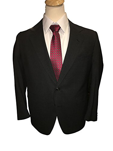 Palm Beach 40 Short Portly Worsted Wool Charcoal Suit Jacket Made In USA 40 Portly Short (Charcoal Solid, 40 Short ()