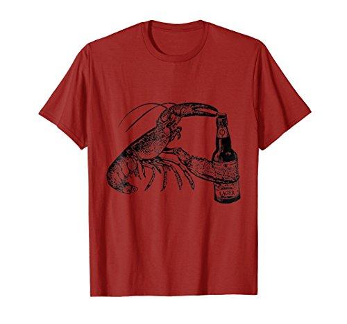 (Mens Beer Drinking Lobster Funny Craft Beer T-Shirt 2XL)