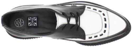 White cuero unisex U K T de Pointed Zapatos Black Creeper A8140 Z7H4WwOqxv