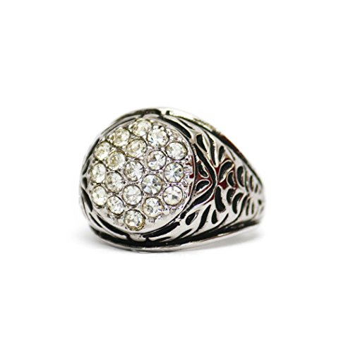 Providence Vintage Jewelry Clear Swarovski Crystals 18k White Gold Electroplated - Electroplated Ring Gold 18k Mens