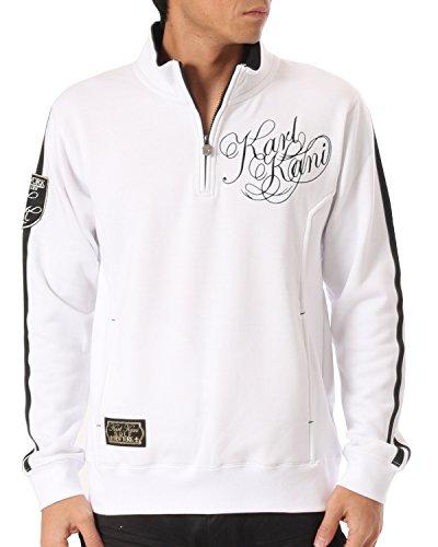 (カールカナイ ゴルフ) KarlKani GOLF トレーナー ハーフジップ スウェット シャツ [撥水加工] 173KG1302 ホワイト Lサイズ