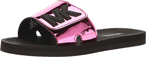 MICHAEL Michael Kors Kids Girl's Eli Slide (Little Kid/Big Kid) Fuchsia - Kors Michael Kids