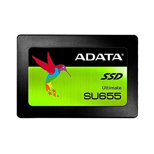 ADATA SU655 960GB 3D NAND 2.5 Inch SATA III High Speed Read Up to 520MB/S Internal SSD (ASU655SS-960GT-C)