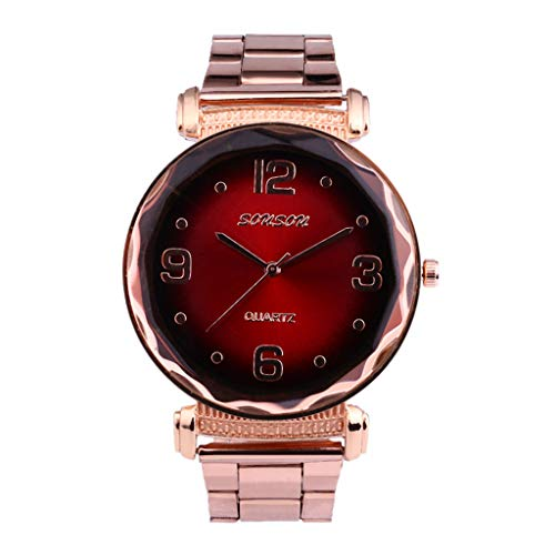 Clearance! Hot Sale ❤ Europe and The United States New High-End Fashion Ladies Watch Steel Strap Watch Under 10 Dollars 2019 New ()