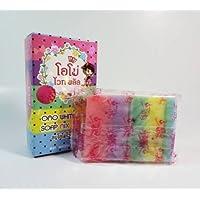 Omo Plus Soap Mix Color Plus soap five brighten white skin new 100% Gluta 100g Pack...