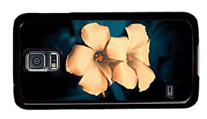Hipster Samsung Galaxy S5 Cases customizable flowers background PC Black for Samsung S5