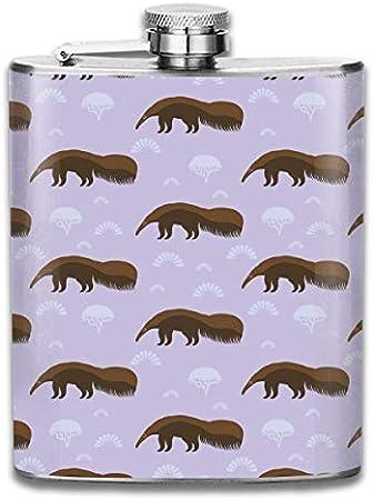 Divertido termo de acero inoxidable gigante Anteater portátil de 7 oz petaca de camping botella de vino whisky botella de vino bandera taza