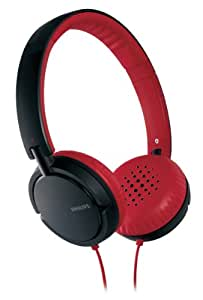 Philips SHL5000/28 Headband Headphone (Red/Black) (Discontinued by Manufacturer)
