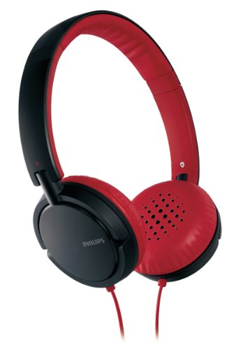 (Philips SHL5000/28 Headband Headphone (Red/Black) (Discontinued by Manufacturer))