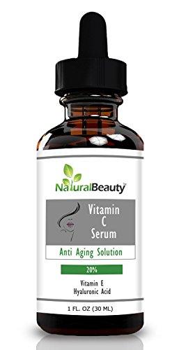 La vitamine C Serum - Très efficace - Contient de la vitamine E pure et acide hyaluronique sérum qui redonne de la peau du visage, les taches de vieillesse et les rides, vous un jeune Making You! Le Sérum Meilleur Anti-Aging En Natural Beauty Marque.
