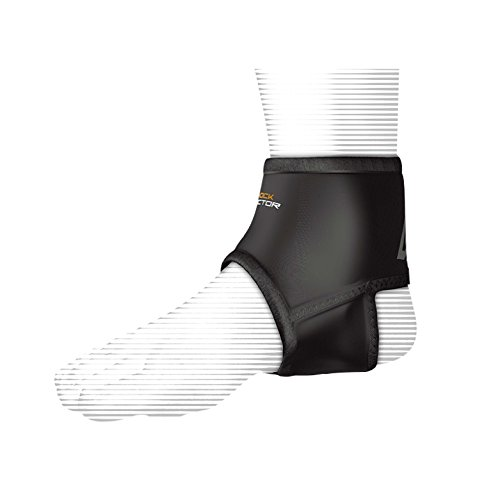Shock Doctor Ankle Sleeve with Compression Fit (Black, X-Large)