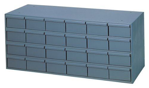 Durham 031-95 Gray Cold Rolled Steel Storage Cabinet, 19''Widthx 11''Height x -36'' Length, 24 Drawer by Durham