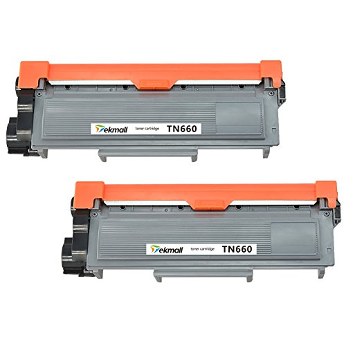 TekMall TN660 TN630 High Yield Replacement Toner Cartridges ( 2 Black ), Use for HL-L2340DW HL-L2380DW HL-L2300D HL-L2360DW HL-L2320D DCP-L2540DW DCP-L2520DW MFC-L2700DW MFC-L2740DW MFC-L2720DW