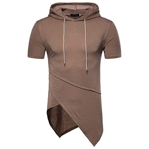 Pullover Top Men,Blouse MILIMIEYIK,Mens Workout Hooded Tank Tops