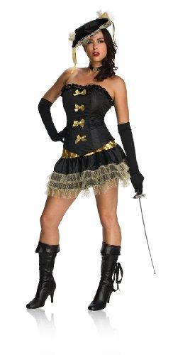 [Secret Wishes  Costume Naughty Musketeer Costume, Black, Small] (Women Musketeer Costumes)