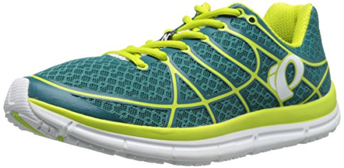 (Pearl Izumi Women's W EM Road N 2 Running Shoe, Deep Lake/Lime Punch, 6 B US)