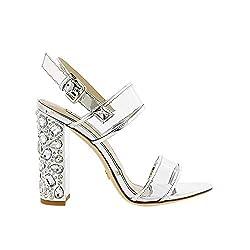 Crystal Heel Ankle Strap Sandal