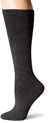 Dr. Scholl's Women's Travel Knee High Socks with Graduated Compression, Charcoal Heather, Shoe Size: 4-10