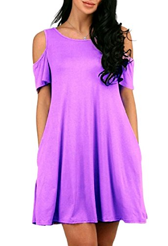 W Dress Short Draped Shoulder Pockets Cold Casual Sexy Women Big Line Pattern4 A Coolred Leisure wxOvXUq7p