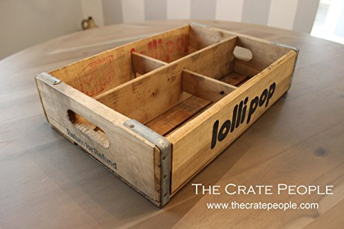 Vintage Lollipop Soda Crates with dividers -- Vintage Soda Crates