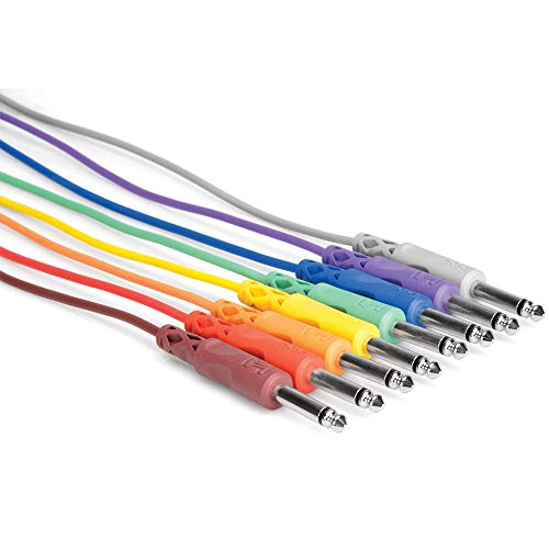 """Hosa CPP-830 1/4"""" TS to Same Unbalanced Patch Cables, 1 Foot from Hosa"""