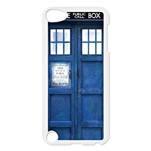 I-Cu-Le Customized Print Doctor Who TARDIS Police Call Box Pattern Hard Case for iPod Touch 5
