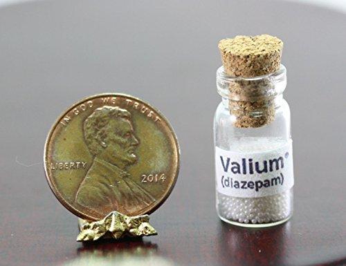 Dollhouse Miniature Bottle of Faux Valium Pills