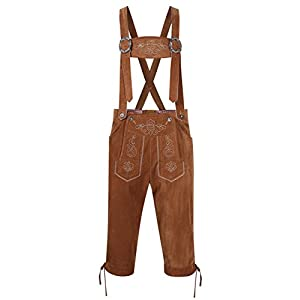 Clearlove Men's German Bavarian Oktoberfest Lederhosen Trousers Costume