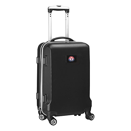 MLB Texas Rangers Carry-On Hardcase Spinner, Black by Denco