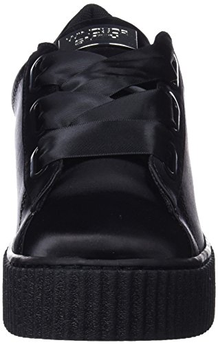 Windsor Smith Dames Olyvia Satijn Sneaker, Zwart Zwart