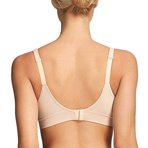 Gloria Vanderbilt Wire Free Bra Breathable Seamless, Black- Nude, Size Small