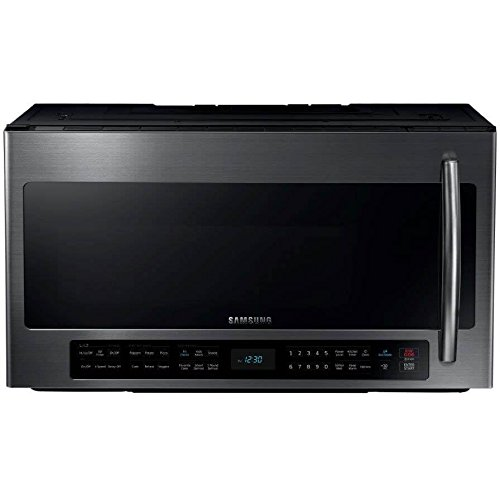 Samsung ME21H706MQG 2.1 Cu. Ft. Black Stainless Steel Over-the-Range Microwave