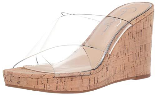 - Jessica Simpson Women's SEENA Wedge Sandal, Transparent (Clear 961), 8.5 M US