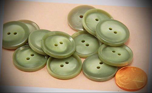 JumpingLight 12 Grey Sage Green Plastic Sew-Through Buttons 13/16