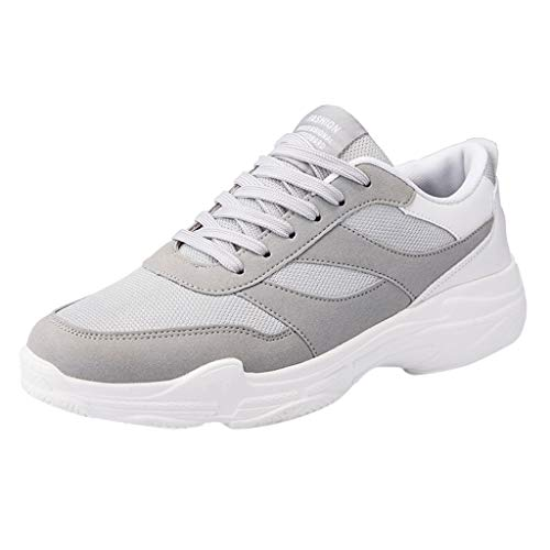 JJLIKER Men's Running Sneakers Fashion Tennis Shoes Wear-Resistant Shock-Absorbing Casual Breathable Athletic Shoe