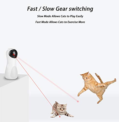 EliveSpm Cat Laser Toy-Automatic Rotating Lazer Pointer with 5 Stage Rotating Projection Angle and 3 Speed Modes, Interactive Chasing Toys for Cats&Dogs 4