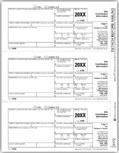 5498 State Copy C Tax Form - 100 forms by EGPChecks