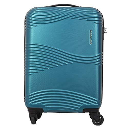 Kamiliant Kam Teku ABS 55 cms Petrol Blue Hardsided Cabin Luggage (KAM TEKU SP 55cm TSA – PET BLU)
