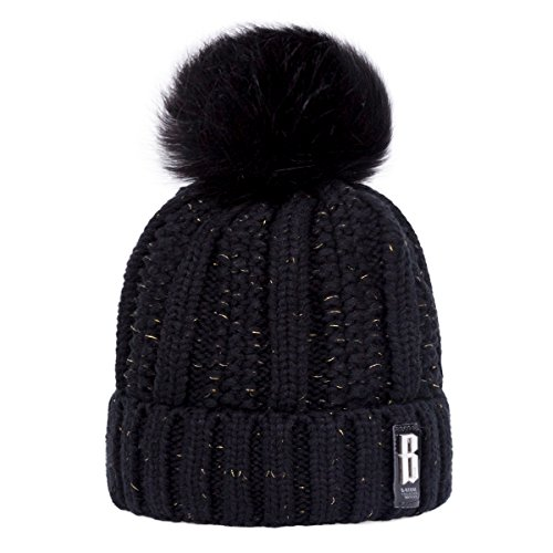 Warm and Very Cute Pom Beanie Hat for Winter.