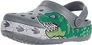 Crocs Unisex Kid's Dinosaur Band Clog|Slip On Water Shoe for Toddlers, Boys, Girls, Slate Grey, C11 M US L
