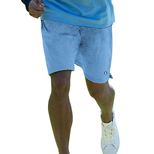 Champion Long Mesh Men's Shorts with Pockets (Large, Swiss Blue)