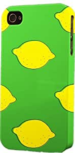 Lemon On Green Pattern Dimensional Case Fits Apple iPhone 4 or iPhone 4s