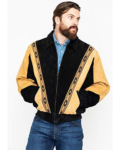 (Scully Men's Two-Tone Aztec Rodeo Jacket Black XX-Large)
