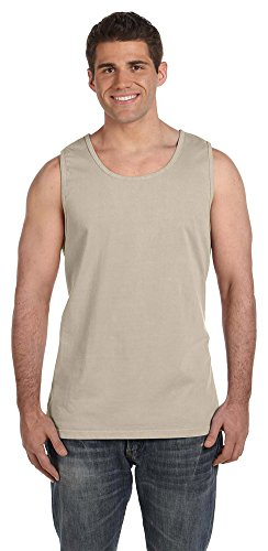 - Comfort Colors Adult Garment-Dyed Sleeveless Tank, Sandstone, Large