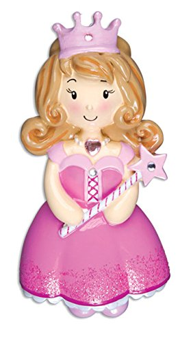 Grantwood Technology Personalized Christmas Ornaments Child-Princess Girl-Pink/Personalized by Santa/Princess -