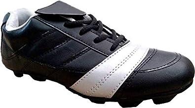 6bb56270db3111 SanR Men s Black Messi Football Sports Cleats Boots Studs Shoe (4 ...